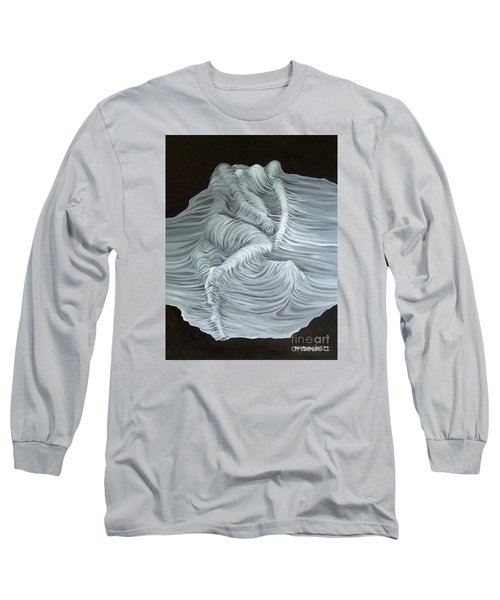 Greyish Revelation Long Sleeve T-Shirt by Fei A