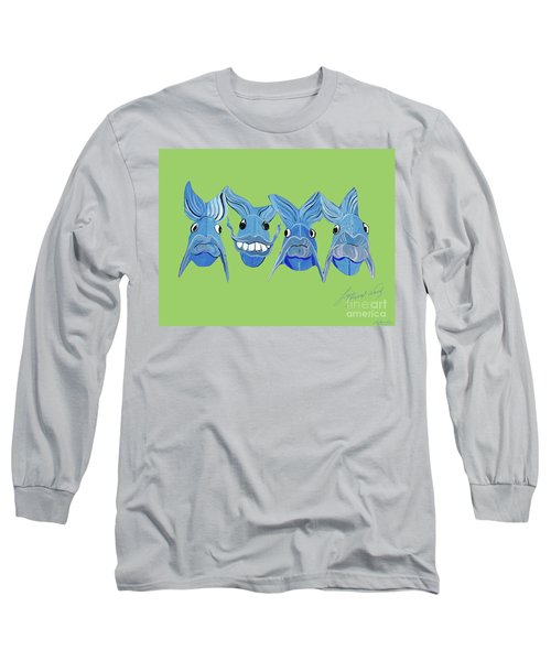 Grinning Fish Long Sleeve T-Shirt