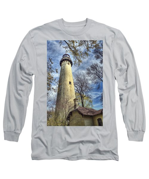Grosse Point Lighthouse Color Long Sleeve T-Shirt