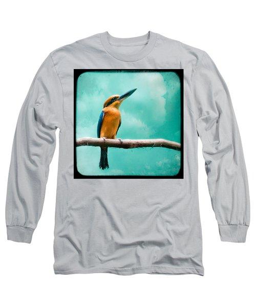 Guam Kingfisher - Exotic Birds Long Sleeve T-Shirt