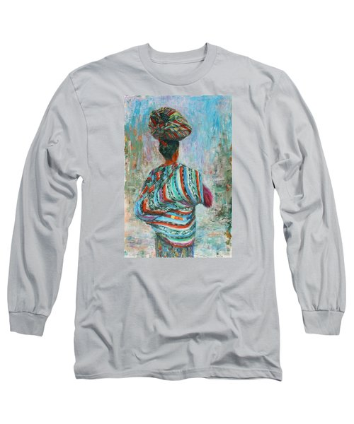 Long Sleeve T-Shirt featuring the painting Guatemala Impression I by Xueling Zou