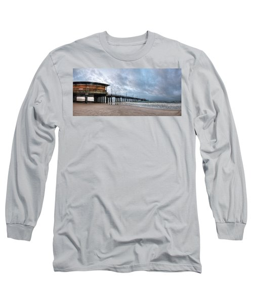 Long Sleeve T-Shirt featuring the digital art Gulf State Pier by Michael Thomas