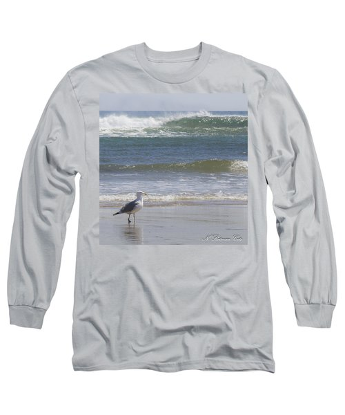 Gull With Parallel Waves Long Sleeve T-Shirt