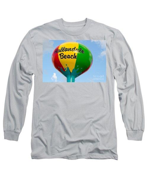 Hallendale Beach Water Tower Long Sleeve T-Shirt