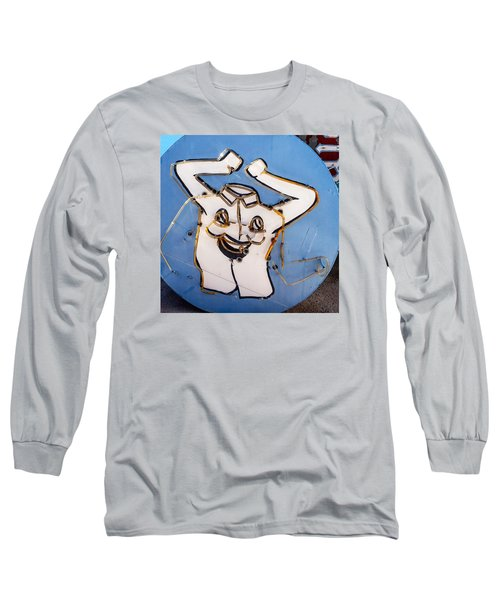 Happy Shirt Sign Long Sleeve T-Shirt by Art Block Collections