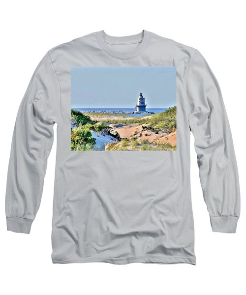 Long Sleeve T-Shirt featuring the photograph Harbor Of Refuge Lighthouse by Kim Bemis