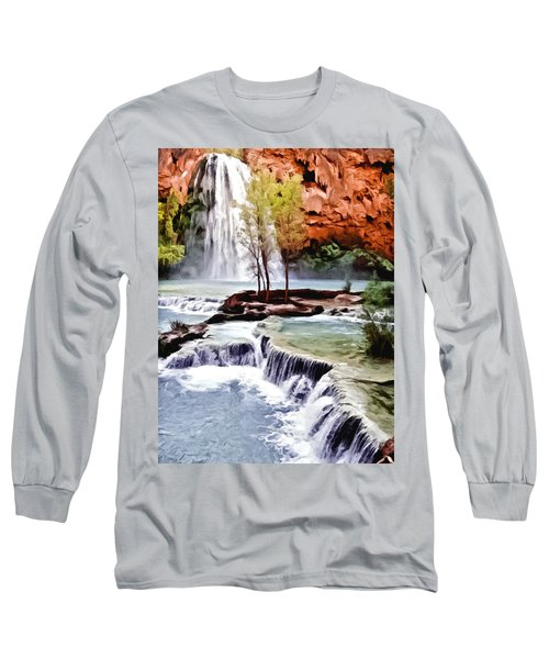 Havasau Falls Painting Long Sleeve T-Shirt
