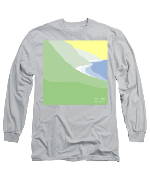 Hazy Coastline Long Sleeve T-Shirt by Henry Manning