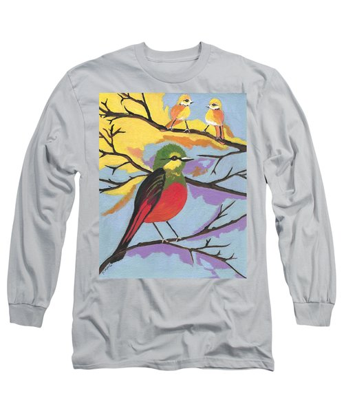 Long Sleeve T-Shirt featuring the painting He Aint That Tweet by Kathleen Sartoris