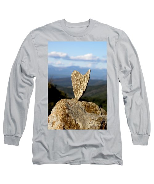 Heart On A Journey Long Sleeve T-Shirt by Lainie Wrightson