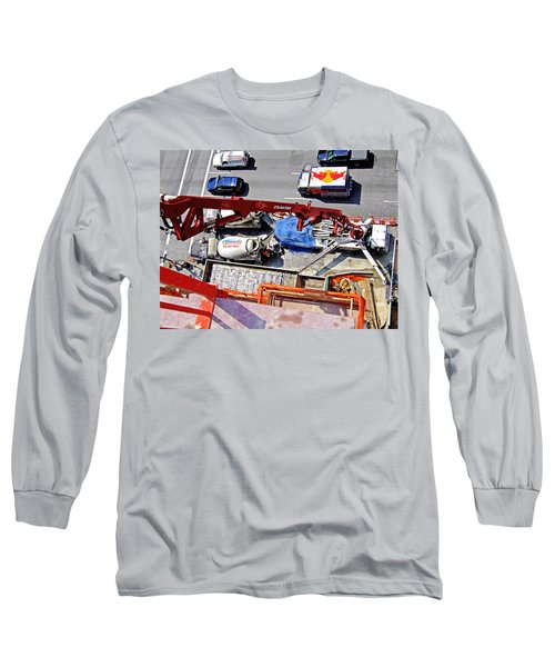 Heavy Lifting Pumper Long Sleeve T-Shirt by Steve Sahm