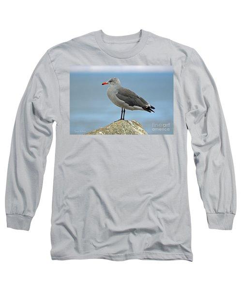 Long Sleeve T-Shirt featuring the photograph Heermann's Gull In Profile by Susan Wiedmann