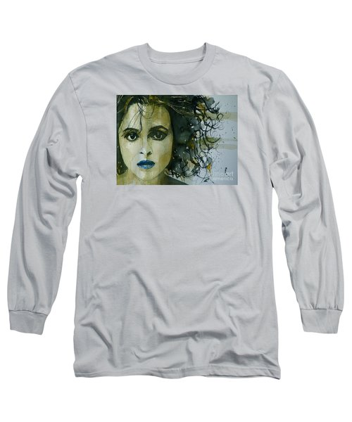 Helena Bonham Carter Long Sleeve T-Shirt by Paul Lovering