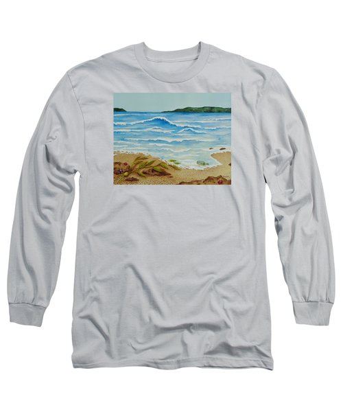 Long Sleeve T-Shirt featuring the painting Hello? by Katherine Young-Beck
