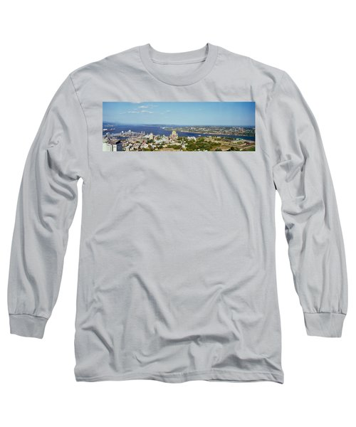 High Angle View Of A Cityscape, Chateau Long Sleeve T-Shirt