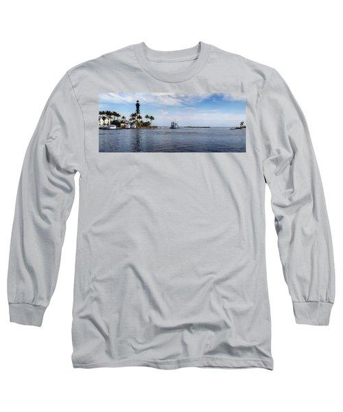 Hillsboro Inlet Lighthouse Panorama Long Sleeve T-Shirt