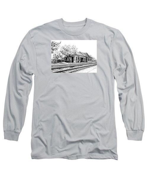 Hinsdale Train Station Long Sleeve T-Shirt