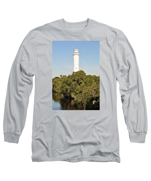 Historic Water Tower - Sulphur Springs Florida Long Sleeve T-Shirt by John Black