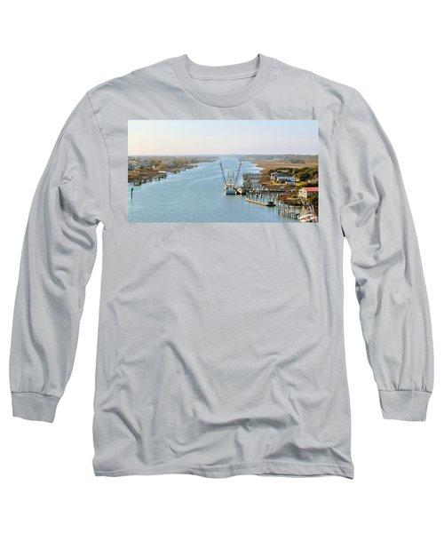 Holden Beach In Nc Long Sleeve T-Shirt by Cynthia Guinn