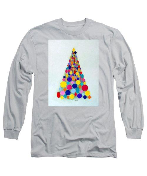 Holiday Tree #1 Long Sleeve T-Shirt by Thomas Gronowski