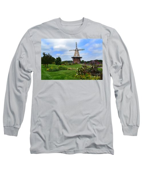 Holland Michigan Windmill Landscape Long Sleeve T-Shirt