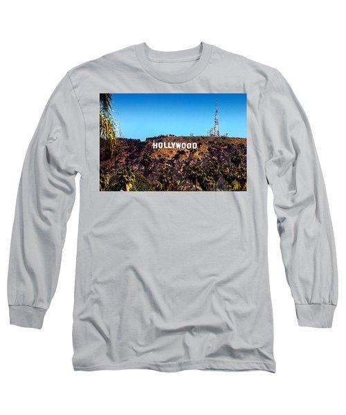 Hollywood Sign Long Sleeve T-Shirt by Az Jackson