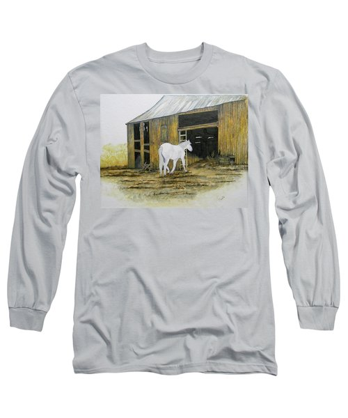Horse And Barn Long Sleeve T-Shirt