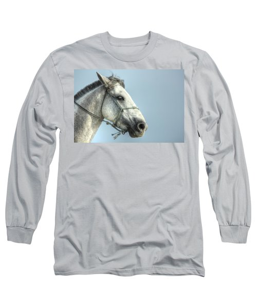 Long Sleeve T-Shirt featuring the photograph Horse Head-shot by Eti Reid
