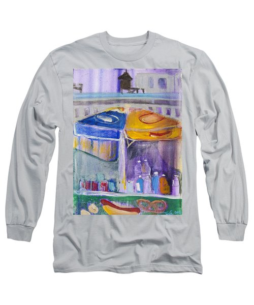 Hot Dogs  Long Sleeve T-Shirt by Leela Payne