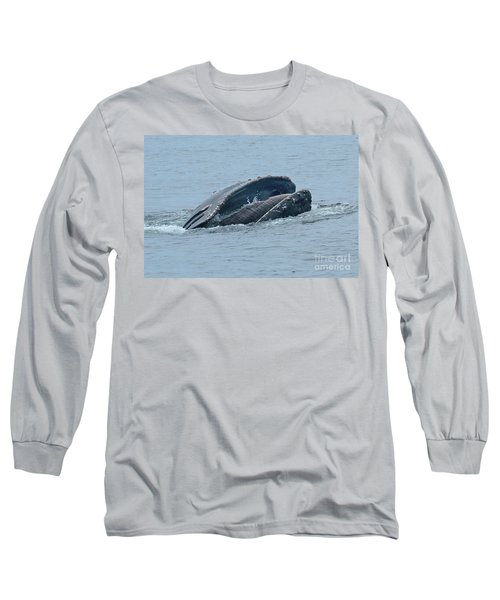 Long Sleeve T-Shirt featuring the photograph Humpback Whale  Lunge Feeding Monterey Bay 2013 by California Views Mr Pat Hathaway Archives
