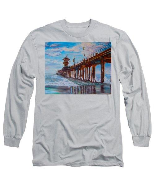 Huntington Beach Pier 2 Long Sleeve T-Shirt