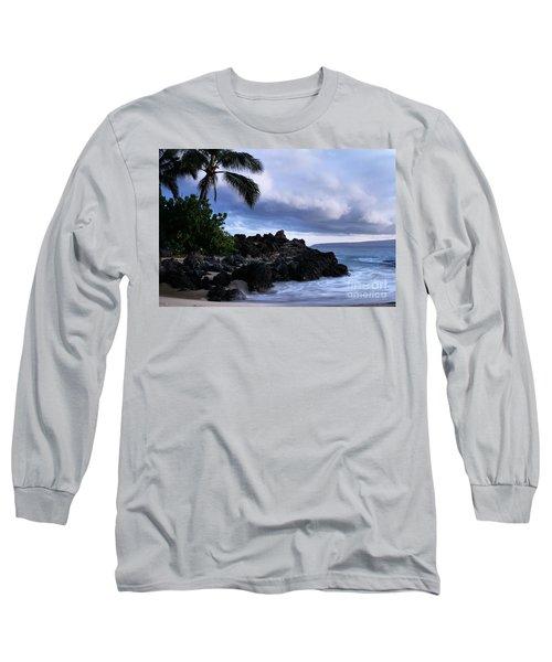 I Ke Kai Hawanawana Eia Kuu Lei Aloha - Paako Beach Maui Hawaii Long Sleeve T-Shirt