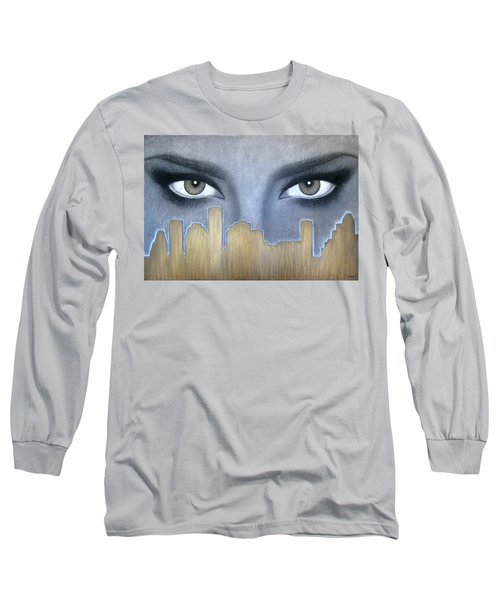 I Love Houston Long Sleeve T-Shirt