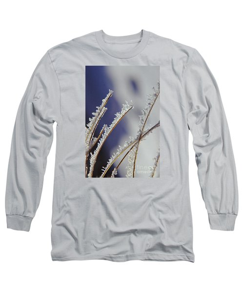 Long Sleeve T-Shirt featuring the photograph Ice Crystals On Fireweed Fairbanks  Alaska By Pat Hathaway 1969 by California Views Mr Pat Hathaway Archives