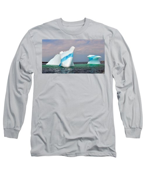 Iceberg Off The Coast Of Newfoundland Long Sleeve T-Shirt by Lisa Phillips