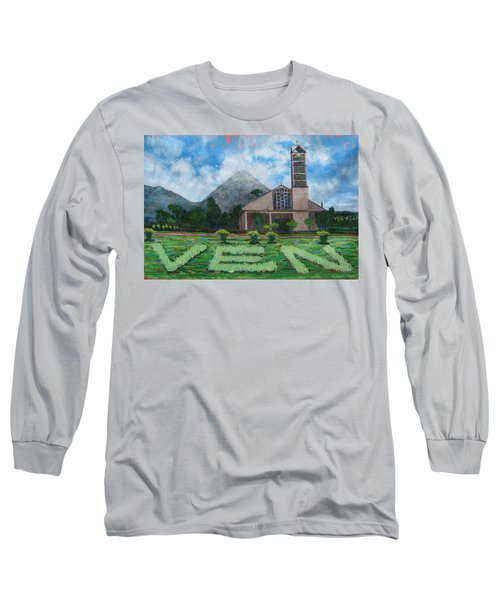 Iglesia La Fortuna  Costa Rica Long Sleeve T-Shirt