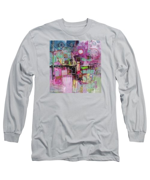 Long Sleeve T-Shirt featuring the painting Impromptu by Michelle Abrams