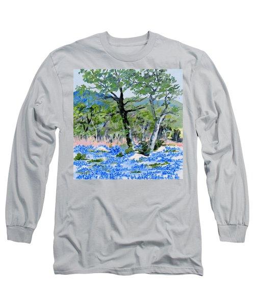 In April-texas Bluebonnets Long Sleeve T-Shirt
