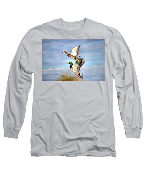 In-flight Long Sleeve T-Shirt by Deb Halloran