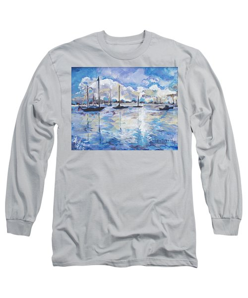 In Search For America's Freedom Long Sleeve T-Shirt by Helena Bebirian