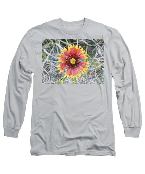 Long Sleeve T-Shirt featuring the painting Indian Blanket by Joshua Martin