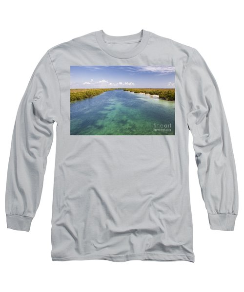 Inlet Leading To Caribbean Ocean Long Sleeve T-Shirt