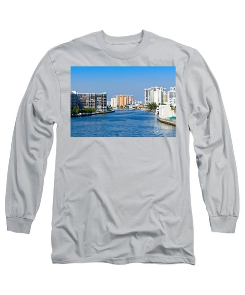 Intracoastal Waterway In Hollywood Florida Long Sleeve T-Shirt