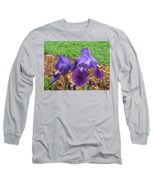Long Sleeve T-Shirt featuring the photograph Iris After Rain by Katie Wing Vigil