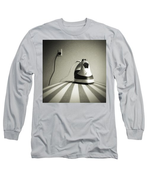 Iron Long Sleeve T-Shirt by Les Cunliffe