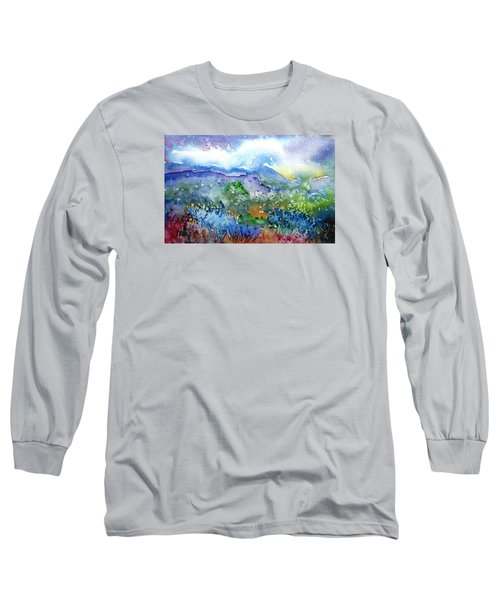 It Sometimes Rains In Tuscany Too  Long Sleeve T-Shirt by Trudi Doyle