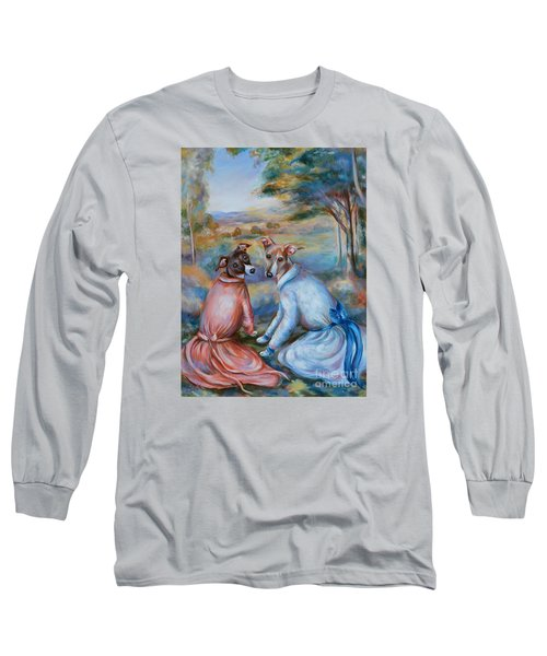 Italian Greyhounds Renoir Style Long Sleeve T-Shirt