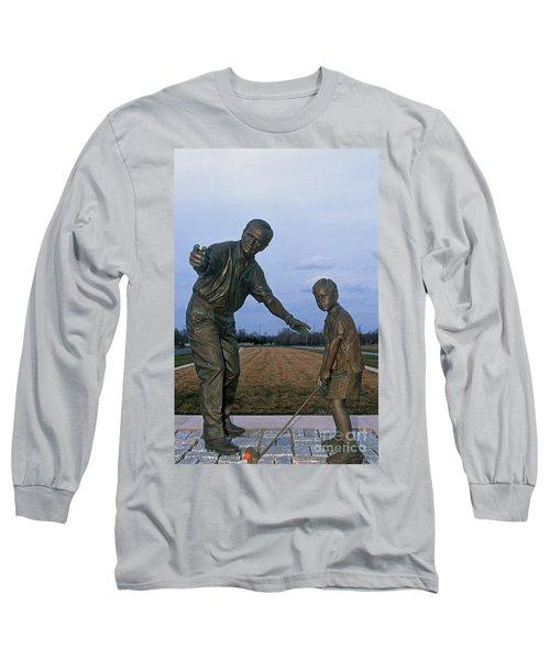 36u-245 Jack Nicklaus Sculpture Photo Long Sleeve T-Shirt