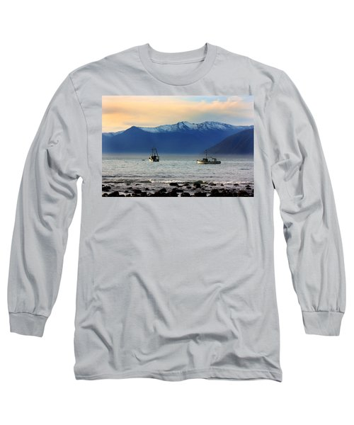 Long Sleeve T-Shirt featuring the photograph Jackson Bay South Westland New Zealand by Amanda Stadther