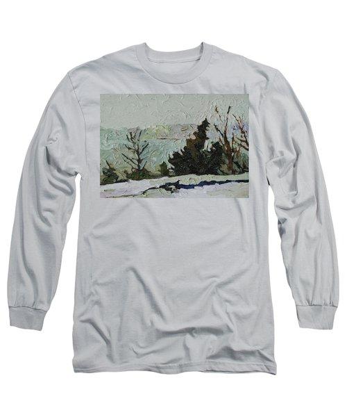 January Grays Long Sleeve T-Shirt by Phil Chadwick